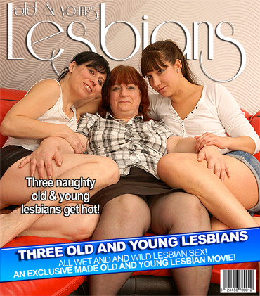 Three old and young lezzies love to eat pussy