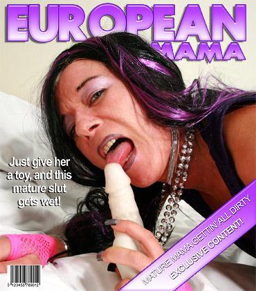 Horny mature slut sucking a cock
