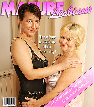Two naughty mature lesbians getting wet