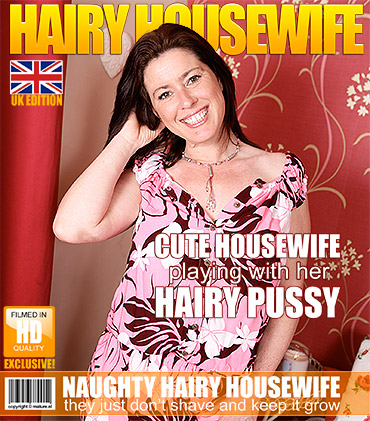 This very hairy British housewife loves to get naughty